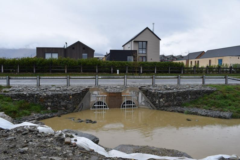 Stormwater from Northlake discharges onto Hikuwai 30 9 18