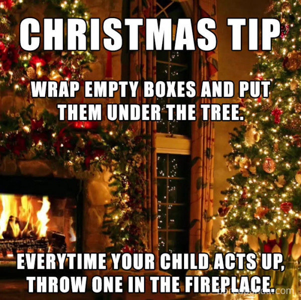 throw presents in the fire