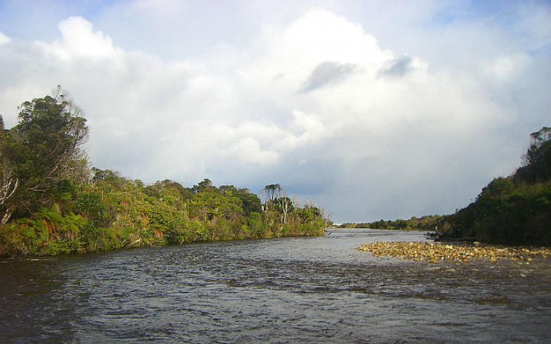 eight col Mouth of the Wairaurahiri River